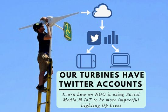 Wind turbines with Twitter accounts