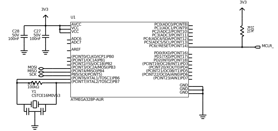 ATMega328P Essential Connections